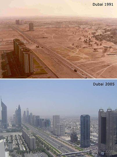 Dubai Before and After Free Zone Economic Development